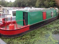 Narrowboat on London Marina mooring