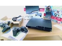 PS3 Slim Console. Mint condition. Kept in glass case. Receipt and all original contents
