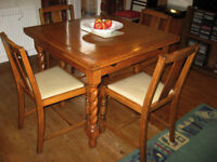 Vintage Barley Twist Dining Table and Chairs