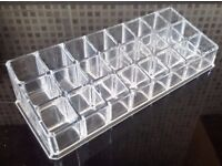 Clear Acrylic Lipstick/ Makeup Organiser (Holds 24)
