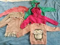 Girls hoodies, cardigans and jumpers for 3-4 years old