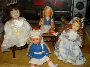 small dolls and chairs