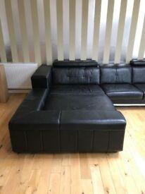 Right hand corner sofa for sale.