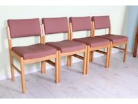 DELIVERY OPTIONS - SET OF 4 PEACH/PINK OFFICE CHAIRS RECEPTION HOTEL
