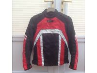 Lightweight textile motorcycle jacket
