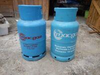 2 x Butane Cylinders, 13kg - full!