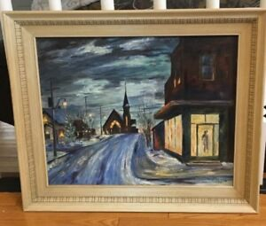 Vintage Original Acrylic Painting Signed and Dated