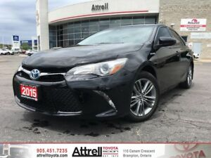 2015 Toyota Camry Hybrid SE. Smart Key, Backup Camera, Dual Air
