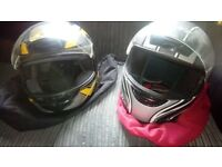 Motorbike helmets Male/Female.. L & S