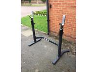Adidas bench press barbell squat rack