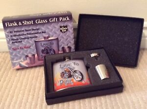 Motorcycle Flask Set BRAND NEW