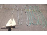 Anchors with chain and rope