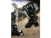 Mini Digger and driver for hire
