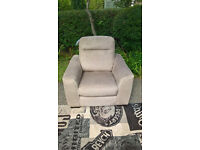 Ex-display Development Beige Fabric Material Arm Chair
