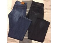 Men's Bootcut Jeans, 2 pairs (1 brand new 1 worn once)