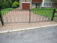 Pair of metal wrought iron driveway garden gates - classic design - *Colchester*
