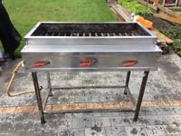 Kebab BBQ grill 15 burners gas