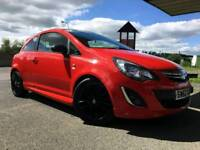 * 41k MILES 1 PREVIOUS OWNER * Vauxhall Corsa D 1.2 Limited Edition Red 62 2012