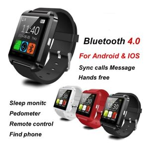 NEW - Bluetooth Smart Watch - Android or iOS - Blk, Rd, Wh