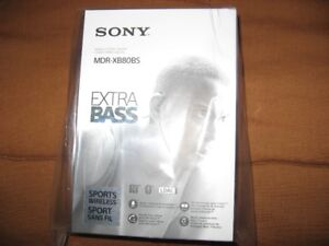 Sony wireless bluetooth sports stereo headset #MDR-XB80BS
