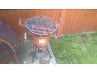Garden Patio Outdoor Camping Charcoal Cast Iron BBQ Barbecue Pit Grill