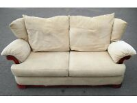 3 seater beige sofa in good cond./ Free delivery in Leicester
