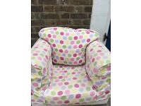 Kids' Armchair from Just4Kidz (new covers available for purchase in many prints)