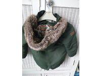 Designer parka coat