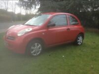 2004 NISSAN MICRA 1.0 ONLY 64,000 MILES LOW INSURANCE GROUP GREAT DRIVER!
