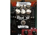Wampler Black '65 Fender Blackface style overdrive amp in a box guitar pedal