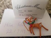 Bambi Disney Grolier Christmas Magic Decoration