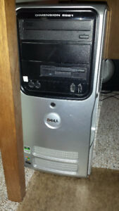 Windows XP Dell tower, LCD monitor, WITH HP Laser Printer!