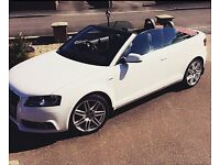 AUDI A3 S LINE 1.6 TDI RED SOFT TOP CONVERTIBLE