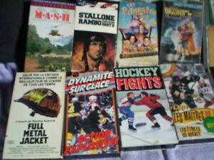 vhs  monster Jam 4/hockey/film anglais & francais/metallica