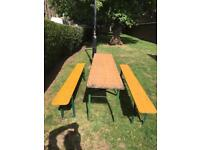 Authentic Vintage German Bierkeller Tables and Benches