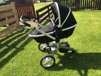 Silver Cross Surf Pram/stroller with carrycot, car seat and many extras