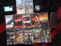 PSP WITH GAMES ETC