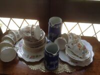 2 tea sets and Wedgwood jugs