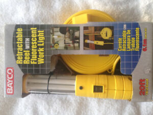 Brand new Work light with 20ft retractable reel