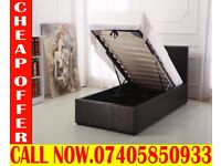 BRAND NEW KING SIZE SINGLE DOUBLE LEATHER STORAGE Bed With Mattress Woodland