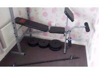 Bench, weights 35kg