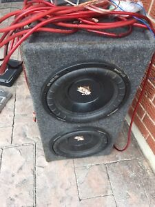 2 12' subwoofers with box and amps