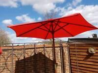 Garden umbrella and stand