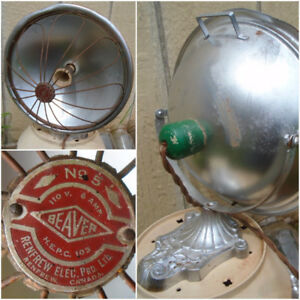 VINTAGE 1940's RENFREW ELEC. BEAVER NO 5 MODEL INFRARED HEATER