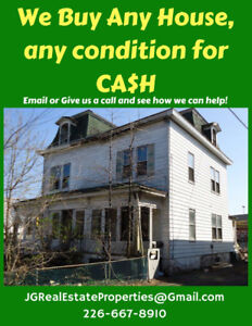 We Buy Any Home in any Condition for CASH
