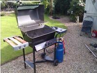 Gas Barbeque - Good Condition, with Gas Cylinder and Half a bag of Fuel