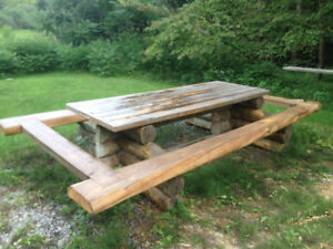 Outdoor Log Table