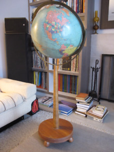 GARAGE CONTENT MOVING SALE - VINTAGE WORLD GLOBE WITH STAND