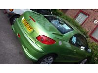 PEUGEOT 206CC IMMACULATE, FSH, LOW MILAGE LONG MOT ENJOY AN OPEN TOP SUMMER DRIVE FOR UNDER £1K