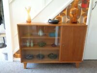 Vintage 1960's Lebus Teak Display Cabinet/Cupboard